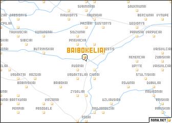 map of Baibokėliai