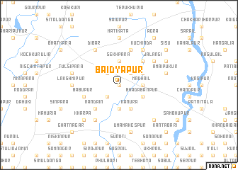 map of Baidyapur