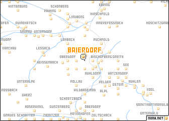 map of Baierdorf