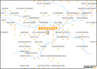 map of Baierdorf