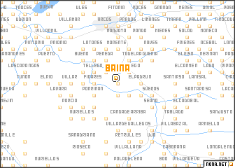 map of Baiña
