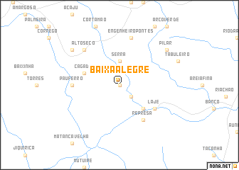 map of Baixa Alegre