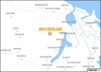 map of Baixa do Juá