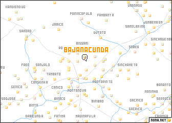 map of Bajanacunda