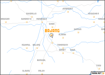 map of Bajang