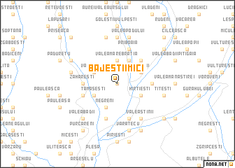 map of Băjeştii Mici