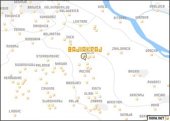 map of Baji°a Kraj