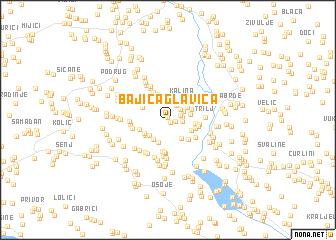 map of Bajića Glavica