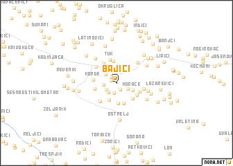 map of Bajići