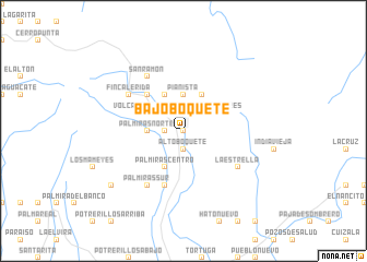 map of Bajo Boquete