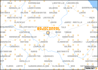 map of Bajo Corral