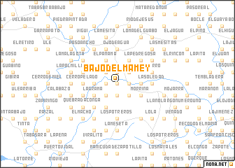 map of Bajo del Mamey
