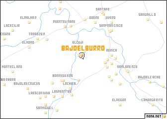 map of Bajo el Burro
