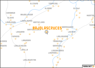 map of Bajo Las Cruces
