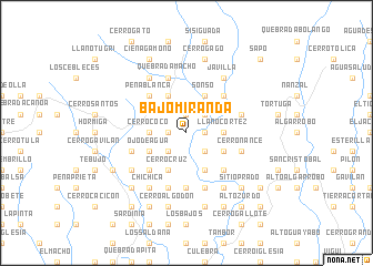 map of Bajo Miranda