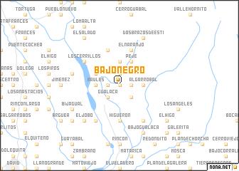 map of Bajo Negro