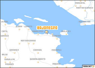map of Bajo Negro