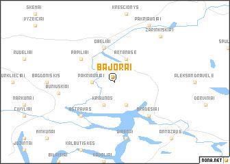 map of Bajorai