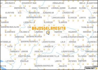 map of Bajos de la Mesita