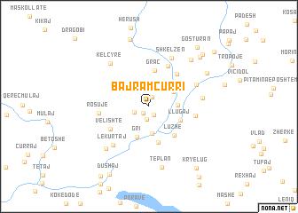 map of Bajram Curri