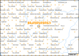 map of Bajrāpur Ārāzi