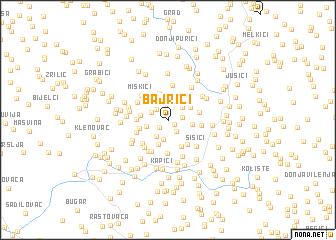 map of Bajrići