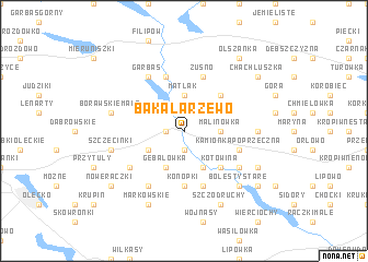 map of Bakałarzewo