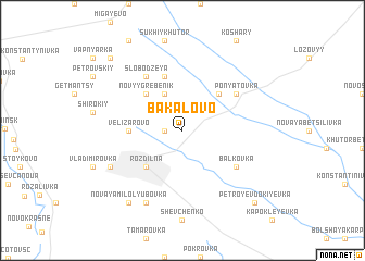 map of Bakalovo