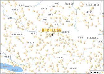 map of Bakaluše