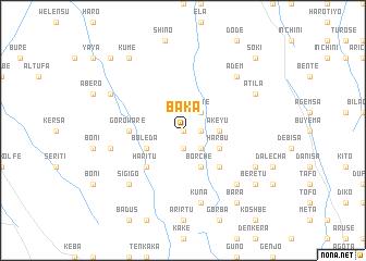map of Baka