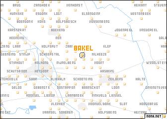 map of Bakel