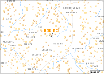 map of Bakinci