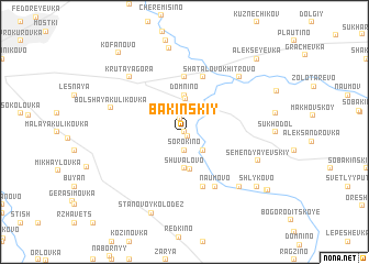 map of Bakinskiy
