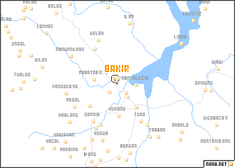 map of Bakir
