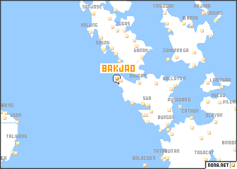 map of Bak-jao