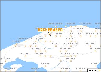 map of Bakkebjerg