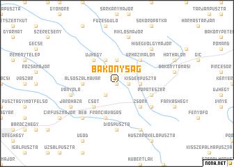 map of Bakonyság
