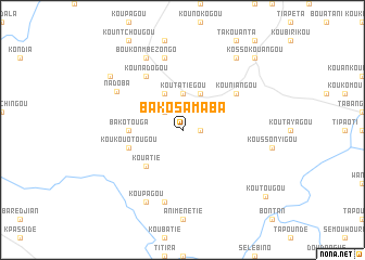 map of Bako Samaba