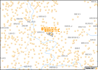 map of Bakotić