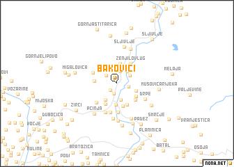 map of Bakovići