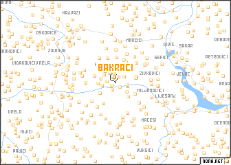 map of Bakrači