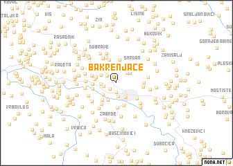 map of Bakrenjače