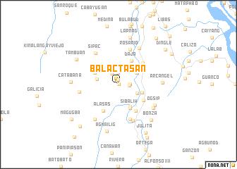map of Balactasan