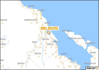 map of Balading