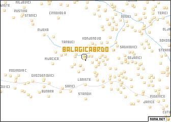 map of Balagića Brdo