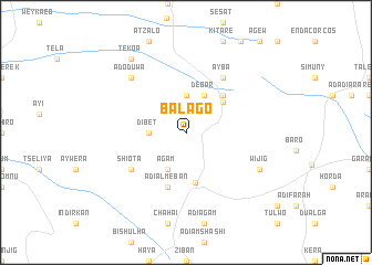 map of Balago