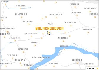 map of Balakhonovka