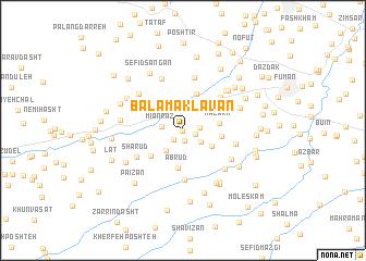 map of Bālā Māklavān