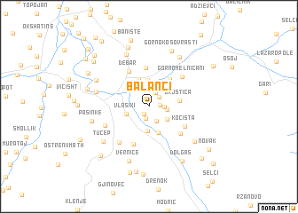 map of Balanci