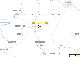 map of Balandino